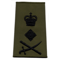 Staff Officer Olive Rank Slide