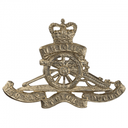Brass Royal Artillery Cap Badge