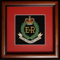 Framed Royal Military Police Badge