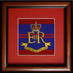 Framed Military Provost Staff Badge