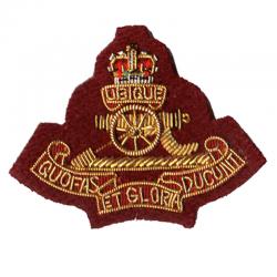 Royal Artillery Para Cloth Cap Badge