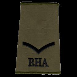 Royal Horse Artillery Olive Rank Slide