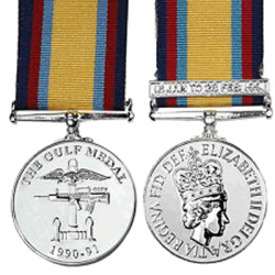 The Gulf Medal (1990-91) Miniature Medal
