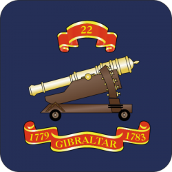 22 (Gibraltar 1779-1783) Battery Coaster