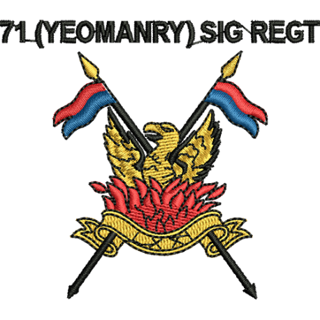 71 (Yeomanry) Signals Regt Polo Shirt