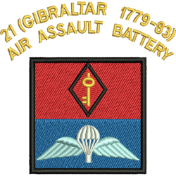 21 (Gibraltar 1779-83) Air Assault Battery T-Shirt