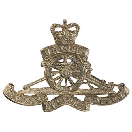 Brass Royal Artillery Cap Badge