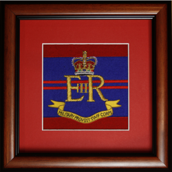 Framed Military Provost Staff Badge