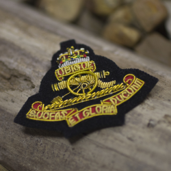 Royal Artillery Cloth Cap Badge