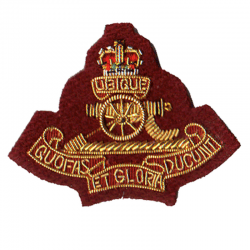 Royal Artillery Para Cloth Cap Badge