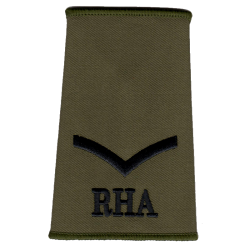 Royal Horse Artillery Olive Rank Slide