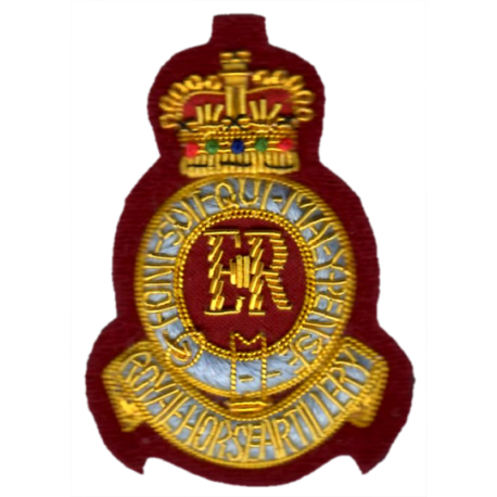 7th RHA Cloth Beret Badge