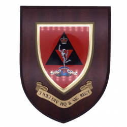 3 (UK) Div HQ and Sig Regt Wall Shield