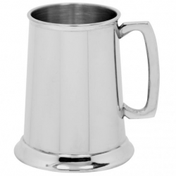 Engraved Pewter Tankard