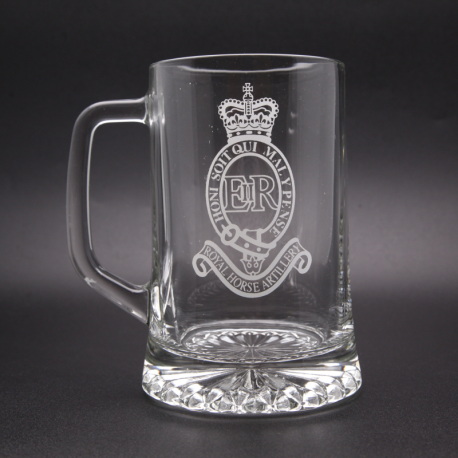 Royal Artillery Glass Tankard