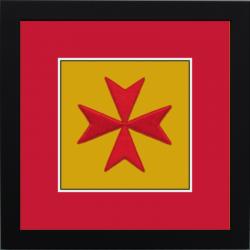 Maltese Cross Framed Badge