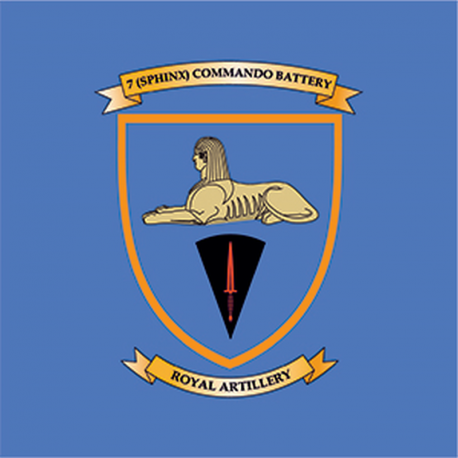 7 (Sphinx) Commando Battery Window Cling
