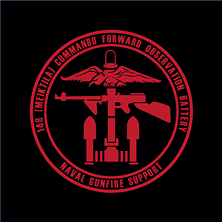 148 (Meiktila) Commando Battery Window Cling