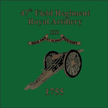 47 Field Regiment Royal Artillery Window Cling