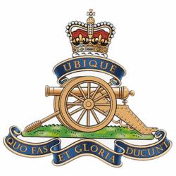 Royal Artillery Window Cling