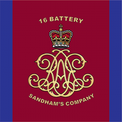 16 Battery (Sandham's Company) Sticker