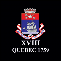18 (Quebec 1759) Battery Sticker