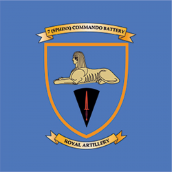 7 (Sphinx) Commando Battery Window Sticker
