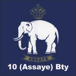 10 (Assaye) Battery Window Sticker
