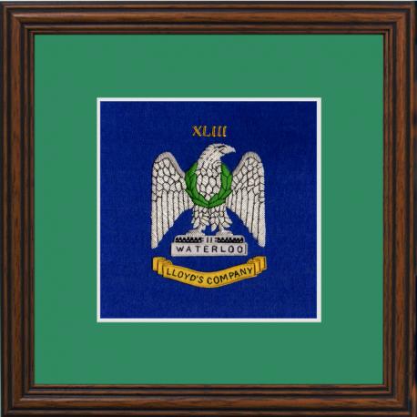 43 (Lloyd's Company) Battery Framed Badge