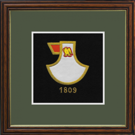 74 Battery (The Battle Axe Company)  Framed Badge