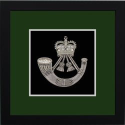 Rifles Framed Badge