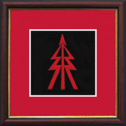 RECCE Tree Framed Badge