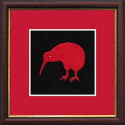 Kiwi Framed Badge