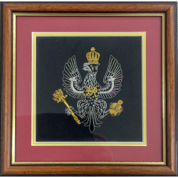 Framed King's Royal Hussars Badge