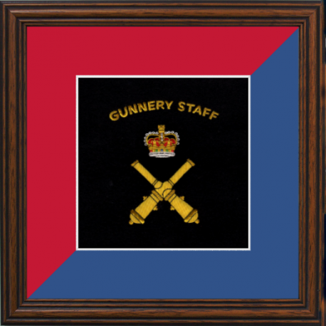 Gunnery Staff Framed Badge