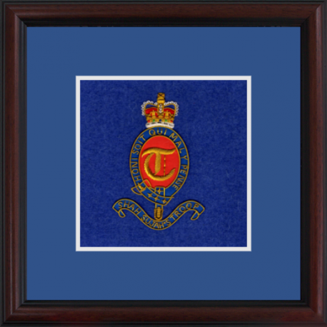 T Battery (Shah Sujah's Troop) Framed Badge