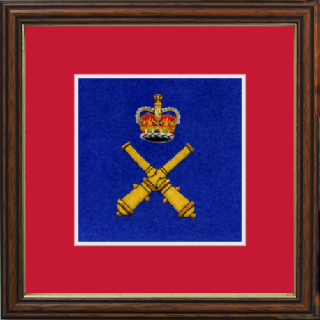 Royal School of Artillery Framed Badge