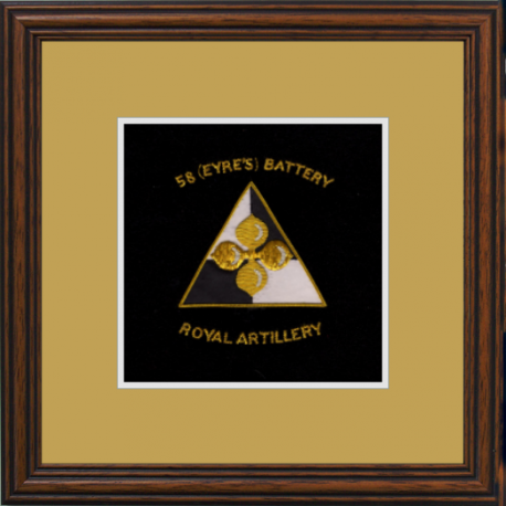 58 (Eyre's) Battery Framed Badge