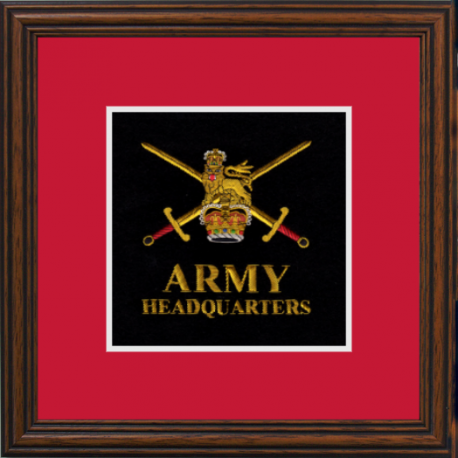 Army HQ Framed Badge
