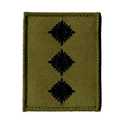 Officer Rank Patch Olive - Velcro