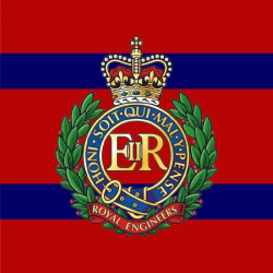 Royal Engineers Window Cling