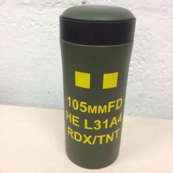 105mm HE Shell Ammo Pouch Flask