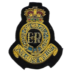 1st RHA Cloth Beret Badge