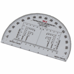 RA 6 Inch Map Reading Protractor