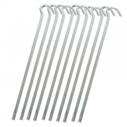 Steel Wire Tent Pegs 10 Pack